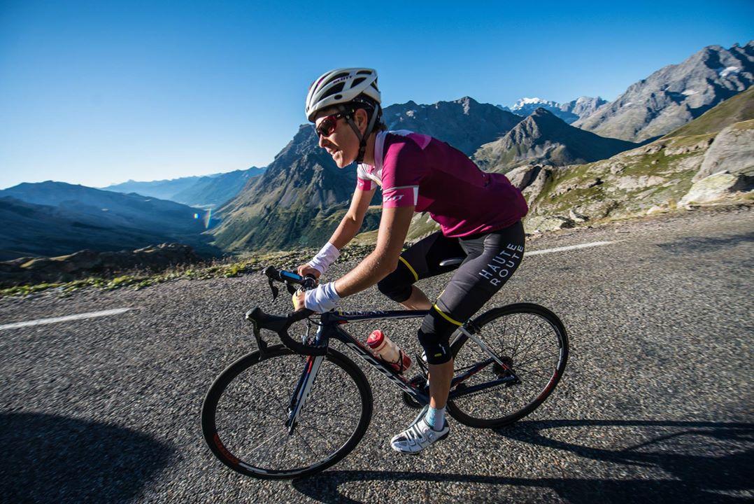 Laetitia Roux sur la Haute Route des Alpes